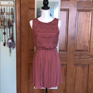 M Boutique Polyester/Rayon Crochet dress